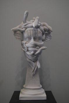 "commentators: ""i love medusa so fucking much "" Medusa Gorgon, Medusa Head, Medusa Myth, Greek Statues, Gothic Steampunk, Gods And Goddesses, Greek Mythology, Mythical Creatures, Sculpture Art"