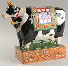 Barnyard Cow Cookie Jar