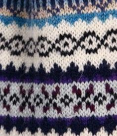 fair isle sample