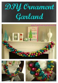 DIY Ornament Garland - Down Home Inspiration