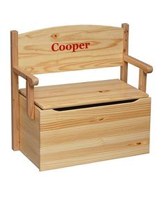 Take a look at this Natural Personalized Bench Toy Box by Little Colorado on #zulily today!