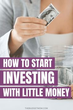 We've all heard stories about people who struck it rich buying the right stock low and selling high. Learn how to start investing with little money. - The Budget Mom Saving Money Quotes, Money Saving Tips, Money Tips, No Spend Challenge, Cash Envelope System, Save Money On Groceries, Managing Your Money, Budgeting Finances, Money Management