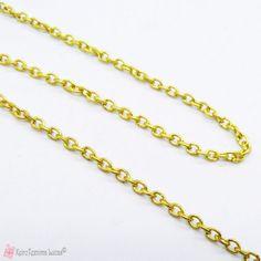 Λεπτό χρυσό αλυσιδάκι 3*2.2mm Gold Necklace, Chain, Jewelry, Gold Pendant Necklace, Jewlery, Jewerly, Necklaces, Schmuck, Jewels