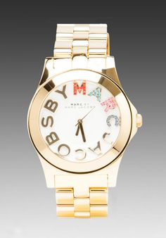 Marc by Marc Jacobs Rivera Platform Watch in Gold