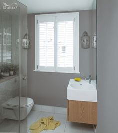 Dulux Bathroom+ Soft Sheen Emulsion Paint Chic Shadow 2.5L | Wickes.co.uk
