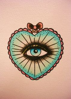Old School Tattoo Tatouage | Tattooblr – Best Tattoos Eye- I did a drawing a loooong time ago and gave it to my English teacher since she saw it on my binder and loved it so much.