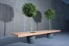 30 Eye-Catching Public Benches::bench+planter