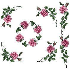 Abc Designs Roses #5 Machine Cross Stitch Embroidery Designs Set. Pes, Hus Etc..