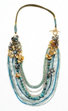 Miriam Haskell. Love big gemstone jewelry www.tanyalochridge.com.