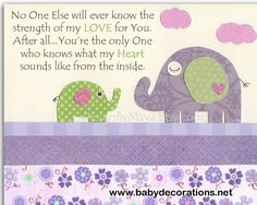 Baby girl Room Decor, Nursery wall Art prints, baby elephant, no one else..match to carters elephant patches bedding, lavender and green - http://www.babydecorations.net/baby-girl-room-decor-nursery-wall-art-prints-baby-elephant-no-one-else-match-to-carters-elephant-patches-bedding-lavender-and-green.html