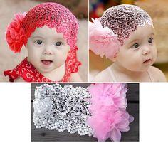 1Pcs New Baby Girl Lace Headband Hair Bow Accessories Headwear Headpiece Hairnet