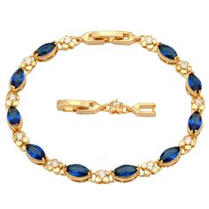 Find More Charm Bracelets Information about Glam Luxe Mysterious 18K Gold plated Deep Blue zircon fashion jewelry Bracelets & bangles B322,High Quality bangle cross,China bangle display Suppliers, Cheap bangle gold from Dana Jewelry Co., Ltd. on Aliexpress.com