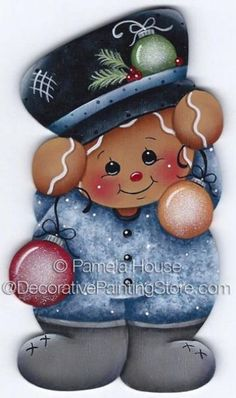 The Decorative Painting Store: Ginger Ornaments ePattern by Pamela House - PDF DOWNLOAD, Newly Added Painting Patterns / e-Patterns #DecorativePaintingStore #gingerornament #PamelaHouse