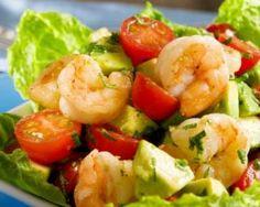 Salade exotique minceur lychees et crevettes