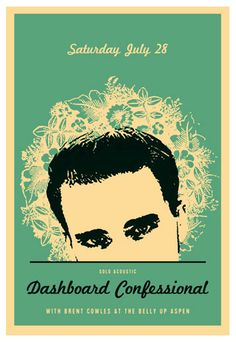 Love This : Scrojo Dashboard Confessional Poster Dashboard Confessional, Expressive Art, Tee Shirt Designs, Art Forms, Print Design, Artist, Movie Posters, Painting, Music