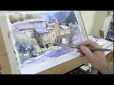 ▶ Como pintar acuarela paso a paso. Watercolor demo. Watercolor turorial. - YouTube