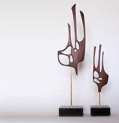 Mid Century Modern Abstract Art Sculpture Danish Mod 50s 60s | eBay