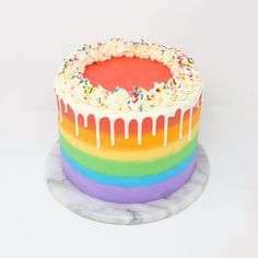 12th Birthday Cake, Novelty Birthday Cakes, Cute Birthday Cakes, Rainbow Birthday, Rainbow Food, Rainbow Cakes, Paul Cakes, Cakes For Teenagers, Cute Desserts