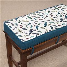 Plush Tapestry Piano Bench Cushion