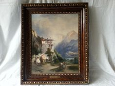 Emil Barbarini / Oil on Canvas / Landscape from Tyrol / Free Shipping By Titulus