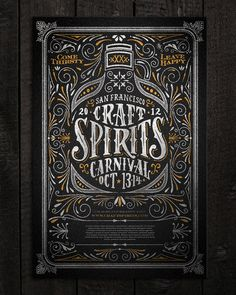 Typeverything.comCraft Spirits Carnival poster by Joel Felix. in Lettering