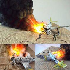 Incredible diorama!!! Crash and Burn P-47N 1/72. Modeler Mauricio Modelista #scalemodel #plastimodelismo #plasticmodel #plastickits #fire #crash #accident #acidente #usinadoskits #udk #scalemodelkit #plastimodelo #plamodel #miniatura #miniature #maqueta #maquette #incendio #fogo