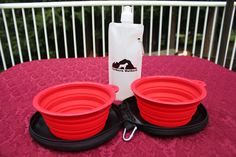 Northern Outback SuperSized Travel Pet Bowl Carrier Kit has TWO 5 CUP Silicone bowls, a BONUS 2 CUP Water Bottle and TWO Carabiner Clips! Excellent for all sizes of Dogs or Pets or hey, if you are a Camper or Hiker, this is for you! Apocalypse Survival Kit, Zombie Apocalypse, Collapsible Dog Bowl, Pet Travel, Pet Bowls, Dog Owners, Your Pet, Pets, Camper