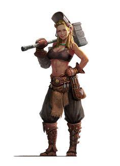 Image result for fantasy art human blacksmith engineer