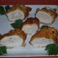 Sajtkrémmel töltött rántott csirkemell Food And Drink, Chicken, Recipes, Food Recipes, Rezepte, Recipe, Cooking Recipes, Cubs