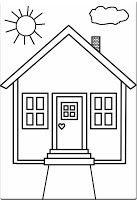 House Coloring Pages. Please print this house coloring pictures on this page. You can see a variety of home so that your children can spend some fun time colori House Colouring Pictures, House Colouring Pages, Coloring Pages To Print, Free Printable Coloring Pages, Coloring Book Pages, Coloring Sheets, Preschool Coloring Pages, Coloring Pages For Kids, Kids Coloring