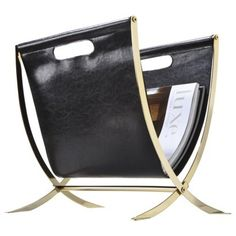 Black Faux Leather Magazine Rack by Target $27.99