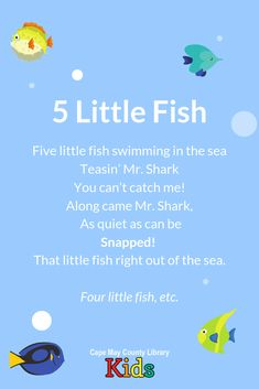 A favorite action song for summer and warm-weather storytimes! This rhyme can easily be accompanied by movement throughout the verses. Preschool Poems, Kindergarten Songs, Kids Poems, Preschool Learning, Teaching, Nursery Songs, Nursery Rhymes, Ocean Activities, Preschool Activities