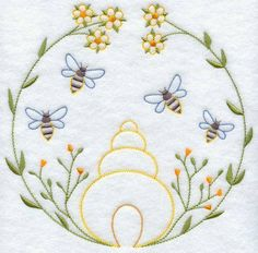 vintage tea towel embroidery patterns | machine embroidery designs