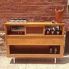 Mid Century Modern Conant Ball Upcycled Bar A Great Spin On Vintage