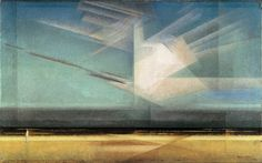 lyonel feininger | Lyonel Feininger, Bird Cloud, 1926, Oil on canvas 43.8 x 71.1 cm ...