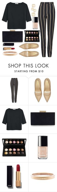 """Untitled #1453"" by anarita11 ❤ liked on Polyvore featuring Topshop, Yves Saint Laurent, MANGO, Monsoon and Chanel"