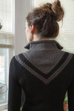 Chevron Coat Pattern - Knitting Patterns by Kerin Dimeler- Laurence