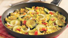 The recipe and ingredients for the American Heart Association's heart-healthy Herbed Veggie Skillet.