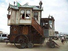 Wow!  I just HAD to include this.  Could this actually be the FIRST motor home?  ;)