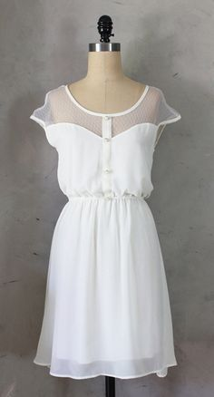 "How cute as a ""send off"" dress!! Petit Dejeuner Dress Ivory"