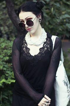 #Goth girl beauty