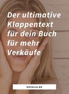 Klappentext für Bücher schreiben Writing A Book, Writing Tips, Self Publishing, My Books, Business, Cover, Euro, Marketing, Narrative Poetry