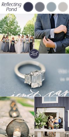 Top 10 Pantone Wedding colors for Fall 2015- Reflecting Pond