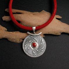 Holy Dance III - silver, coral follow me on FB www.facebook.com/Fiann.AnnaFideckaJewelry.ArtClay #pendant #silver #jewelry #handmade #silverjewellery #fiann #oneofakind #uniquejewelry #metalwork #madewithlove #coral