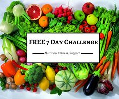 I would like to invite you all to join me in a totally FREE, 7 day clean eating challenge. I will provide the meal plan, shopping list, nutrition tips, sweat inducing workouts you can do from home and the totally private group where you will gain support, motivation and friendship. You'll even have a chance to win a kick booty prize! Click the photo & fill out the form to join!
