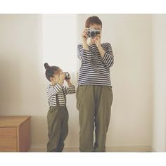 .@Barbara Acosta Feher | お揃い服でカメラ親子 やわらかくて気持ちまでやさしくなる服 #iichi | Webstagram