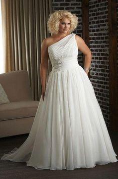 10 Benutzerdefinierte Plus Size vestidos de novia Ideas - Stil Mode - Vestidos Plus Size Brides, Plus Size Wedding Gowns, Wedding Dress Shopping, Wedding Attire, Gown Wedding, Lace Wedding, Dress First, Bridal Dresses, Party Dresses