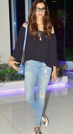 Deepika Padukone at the 'Tamasha' wrap-up bash.