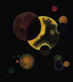 Wassily Kandinsky Heavy Circles, 1927 (I studied Kandinsky a bit, but had never seen this particular piece before now. Dude! He was a Time Lord! LOL)