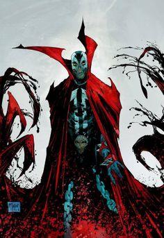 Spawn by Todd McFarlane Spawn Comics, Dark Comics, Batman Christian Bale, Best Comic Books, Comic Books Art, Book Art, Comic Book Characters, Comic Character, Fictional Characters
